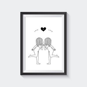 Love is Love A4 Print - Noods Creative x TBP Collab