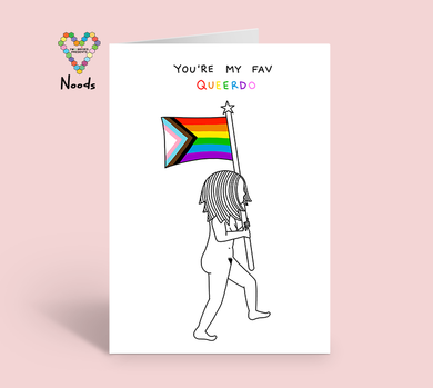 You're My Fav Queerdo Card by Noods Creative x TBP