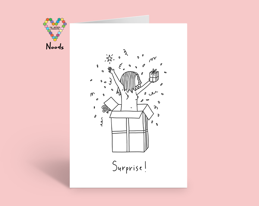 Surprise Greeting Card, A Noods Creative x TBP Collab