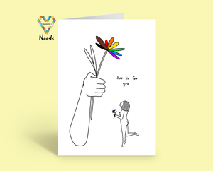 This is for you greeting card by noods creative x tbp collab