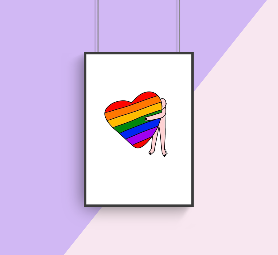 Big Rainbow Hugs Print ~ Shuturp X TBP Collab