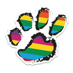 Rainbow Paws Sticker