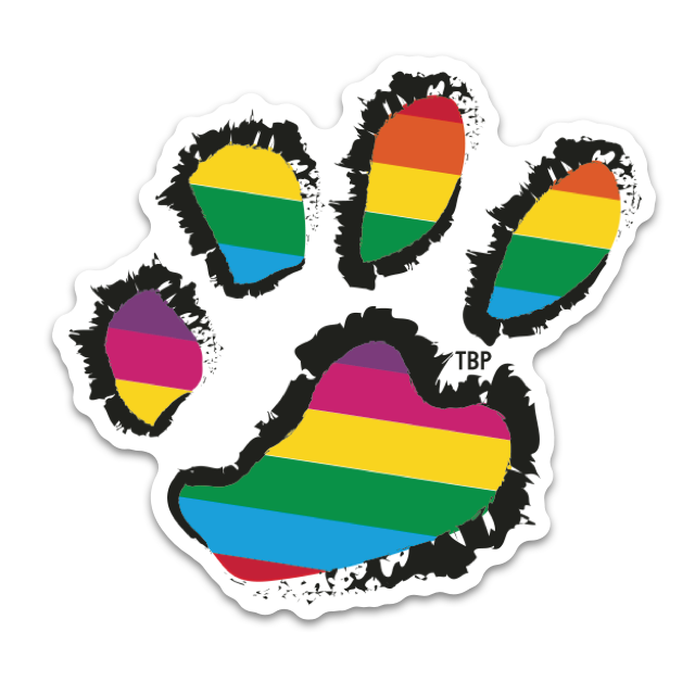 Rainbow Paw Stickers