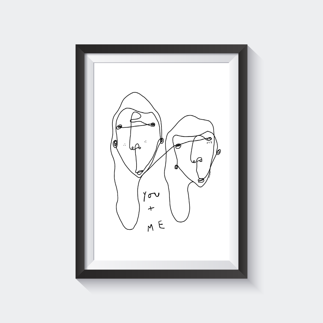 You + Me Print by Shuturp x TBP Collab