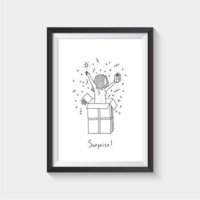 Surprise Birthday Suit Print - a Noods Creative x TBP Collab