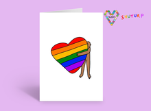Load image into Gallery viewer, Heart Hug Card ~ Shuturp x TBP