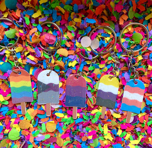Pride SwirlPop Key Rings