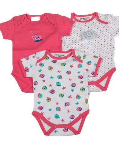 Body bebe colorate bumbac set fetite
