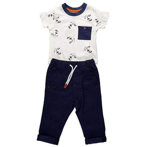 Set tricou si pantalon chino copii