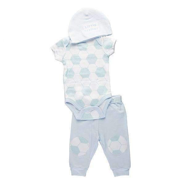 Set body pantalon lung și caciuliță Little Striker Soft Touch băieți 0-9 luni