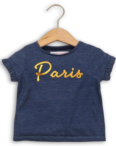 Tricou copii model Paris fete 1-3 ani