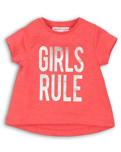 Tricou mesaj Girls Rule copii fete
