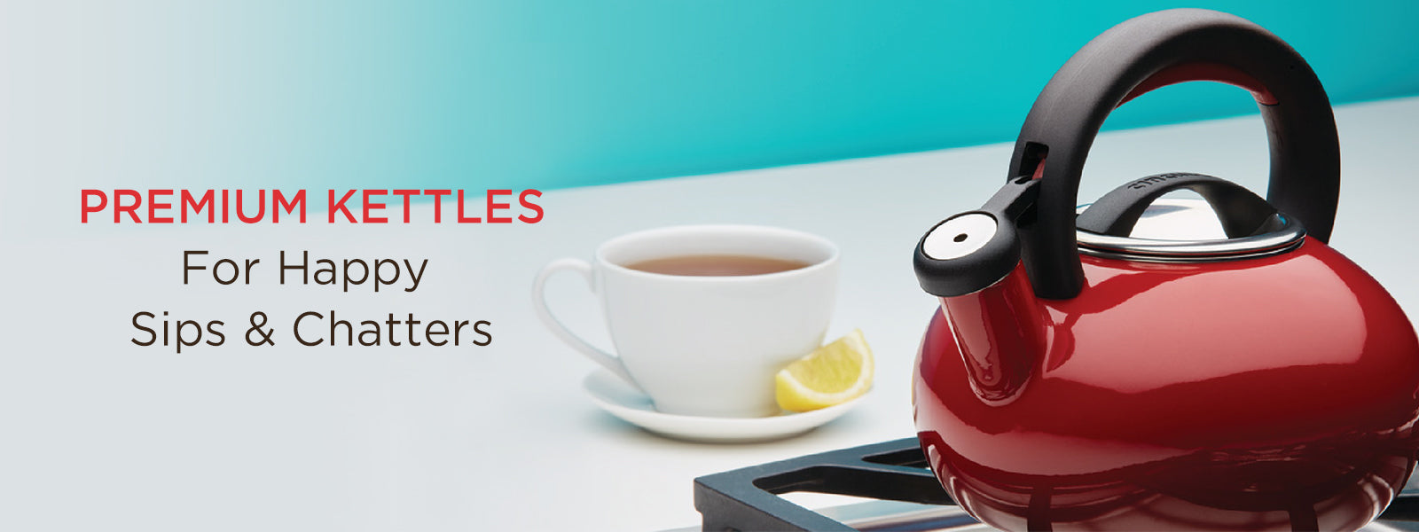 Designer tea kettles with lifetime warranty
