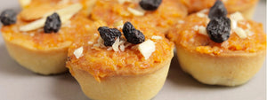 Mini Carrot Halwa Tartlets