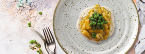 Carrot Gnocchi With Cheese Fondue And Green Peas
