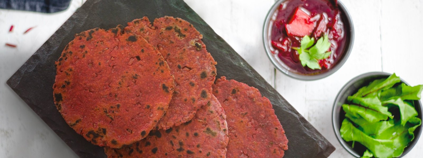 Oats And Beetroot Roti