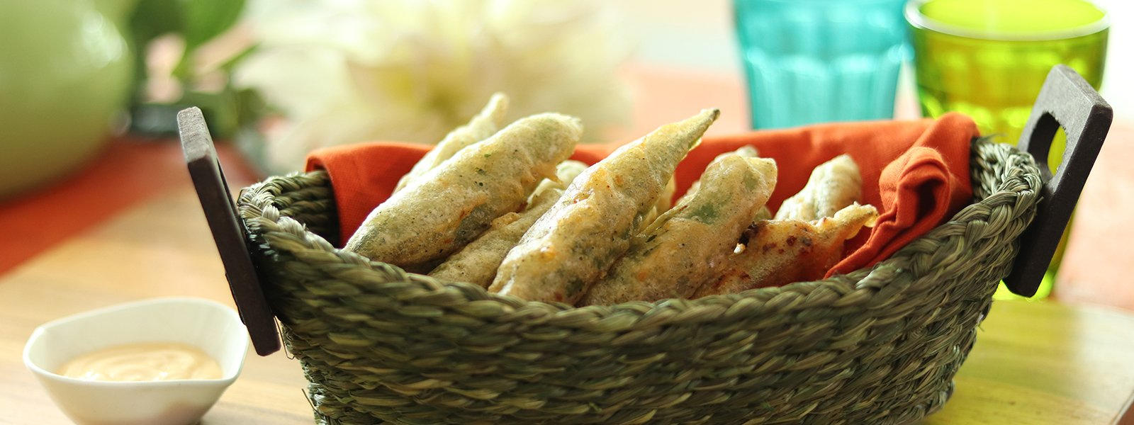 Cheesy Okra Tempura