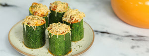 Pepperonata Stuffed Zucchini