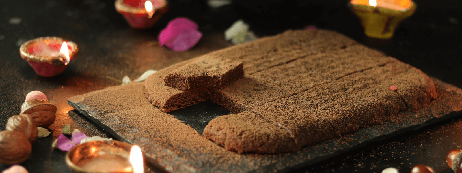 Rava Coconut Chocolate Barfi