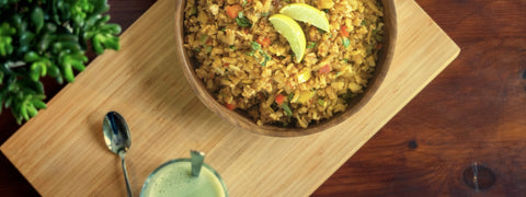 Asian stir fried poha recipe
