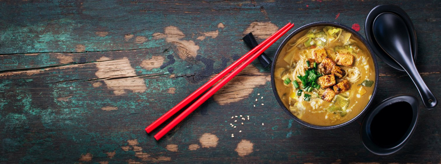Homemade Thai Curry Noodle Bowl