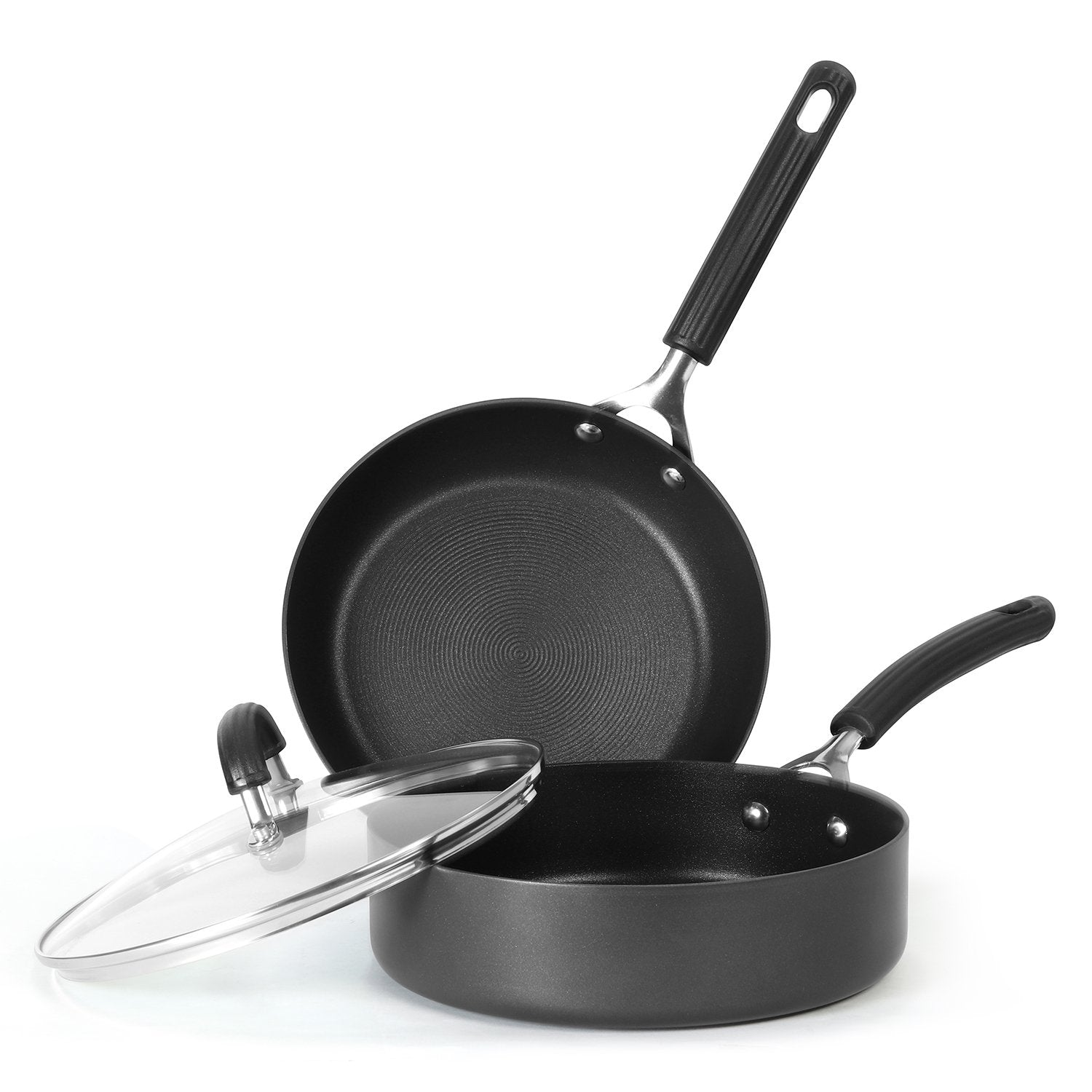 Circulon Origins Non-Stick + Hard Anodized 3-Piece(Saute + Stirfry) Cookware Set (Gas and Induction Compatible) - Pots and Pans