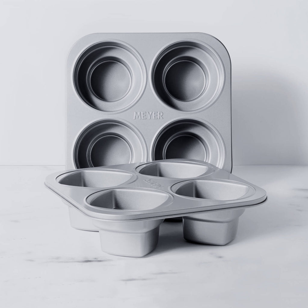 Meyer Bakemaster 2-Piece Bakeware Set - 4 cup Square Cake pan + 4 cup Round Cake pan - Pots and Pans
