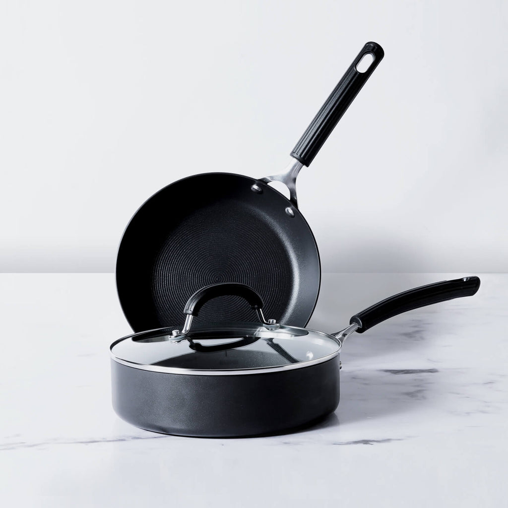 Circulon Origins Non-Stick + Hard Anodized 3pcs Cookware Set (24cm Sautepan + 24cm Frypan) - Pots and Pans