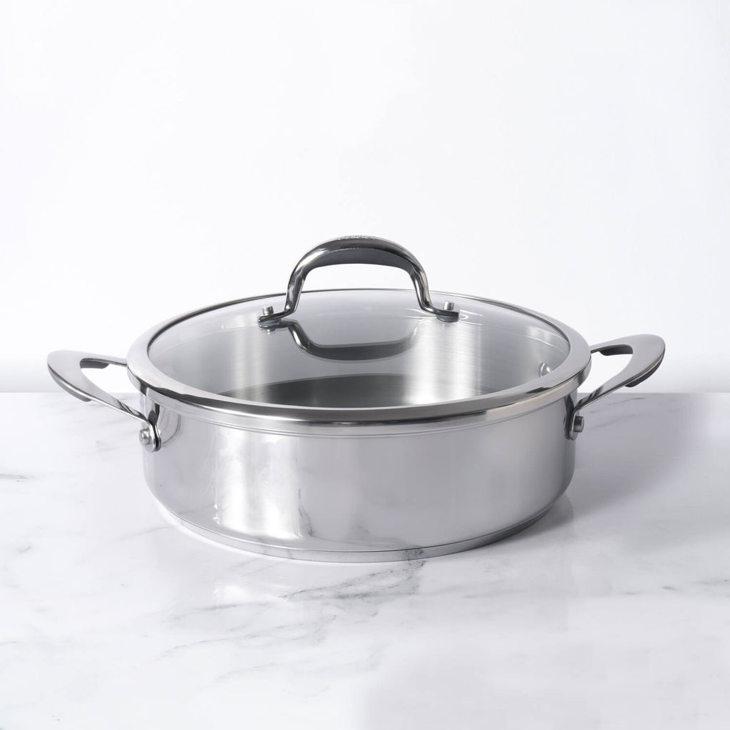 Meyer Select Stainless Steel Sauteuse 28cm (Induction & Gas Compatible)