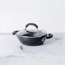 Circulon Origins 20cm Non-Stick + Hard Anodized Kadai/Wok with Lid - Pots and Pans