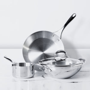 Meyer Select Stainless Steel 4-Piece Cookware Set (Gas and Induction Compatible) - Pots and Pans
