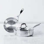 Meyer Select Stainless Steel 3-Piece Cookware Set (Gas and Induction Compatible) - Pots and Pans