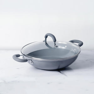 Meyer Anzen Wok / Kadai with Lid, 30cm - Pots and Pans