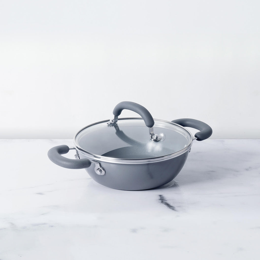 Meyer Anzen Wok / Kadai with Lid, 20cm - Pots and Pans