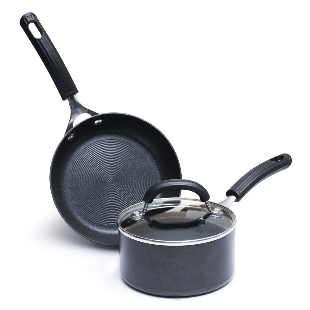 Circulon Origins Non-Stick + HA 3pcs Interchangeable Lid Cookware Set (20cm Saucepan + 20cm Skillet) - Pots and Pans