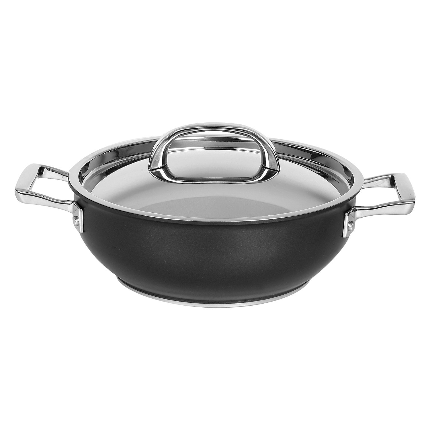 Circulon Hard Anodized + Non-Stick Chef's Casserole, Skillet and Curved Tawa 4-Piece Cookware Set - PotsandPans