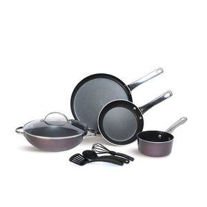 Forgestone Non-Stick Casserole 24cm, Stone Grey [Induction & Gas Compatible] - PotsandPans