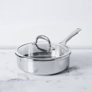 Meyer Select Stainless Steel Sautepan 24cm (Induction & Gas Compatible) - Pots and Pans