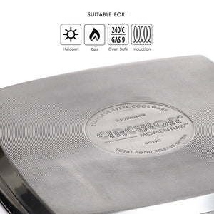 Circulon Momentum 24cm Non-Stick Square Grill Pan - Pots and Pans