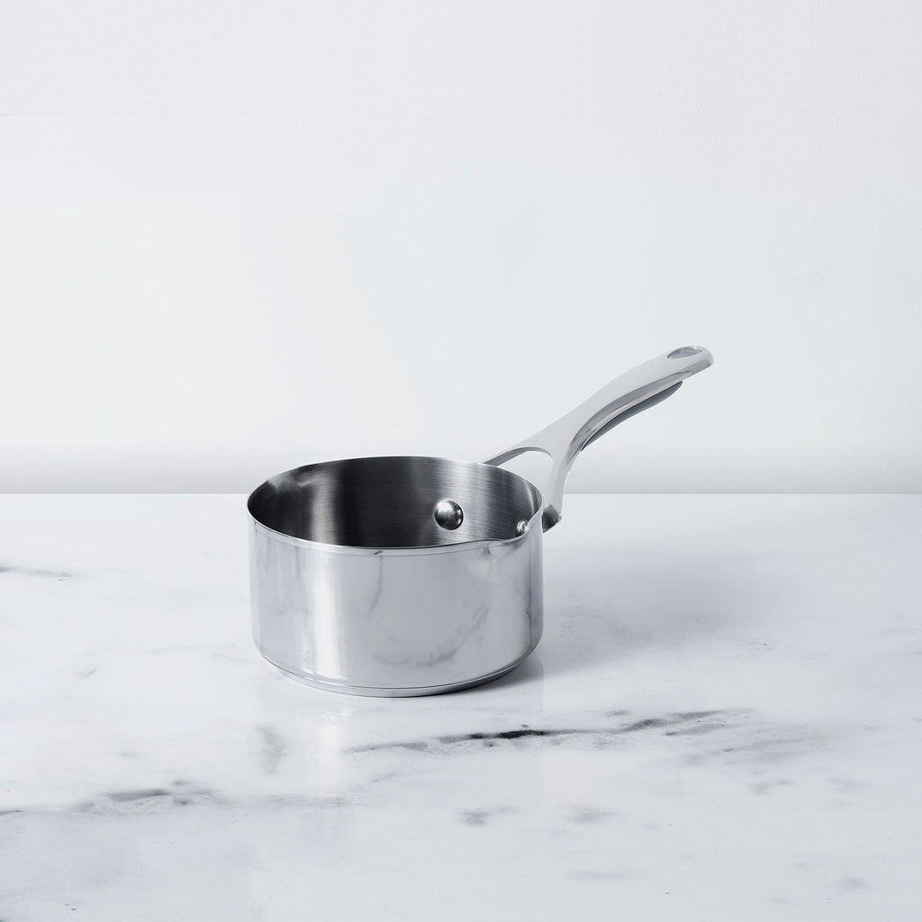 Meyer Select Stainless Steel Milkpan 14cm (Induction & Gas Compatible) - Pots and Pans