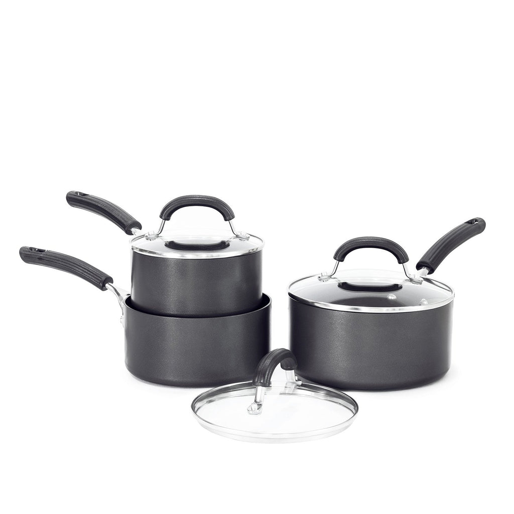 Circulon Origins Non-Stick + Hard Anodized Trinity Saucepan Set (Gas And Induction Compatible) - PotsandPans