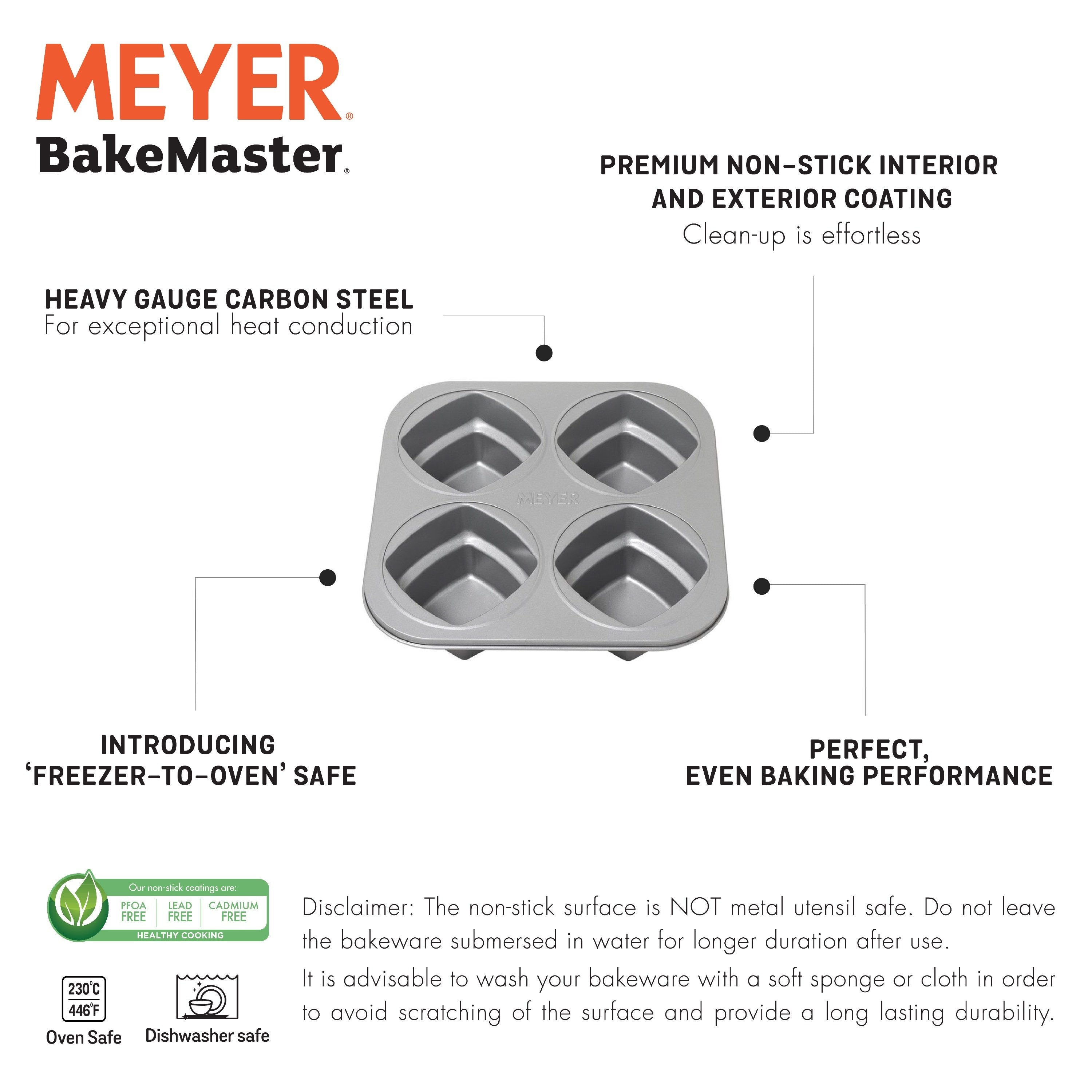 Meyer Bakemaster Set - 4-Cup 2-Tier Square Cake Pan + Baking Book - Pots and Pans