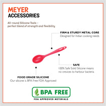 Meyer Silicone Spoon, Red - Pots and Pans