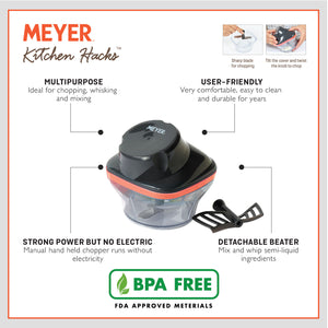 Meyer Kitchen Hacks Compact Chopper, 250ml