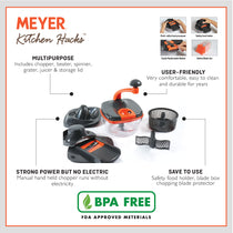 Meyer Kitchen Hacks Master Chopper, 1700ml - Pots and Pans