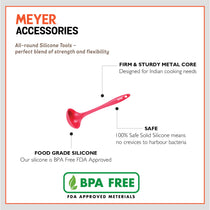Meyer Silicone Round Ladle, Red - Pots and Pans