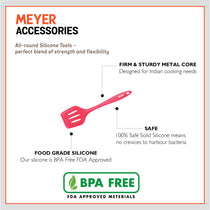 Meyer Silicone Slotted Turner, Red - Pots and Pans