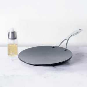 Circulon 2 Piece Set - Circulon Non-Stick + Hard Anodized Curved Tawa (26 cm) + Oil Sprayer (170 ml) - Pots and Pans
