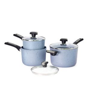 Meyer Forgestone Non-Stick Trinity Saucepan Set (Gas And Induction Compatible) - PotsandPans