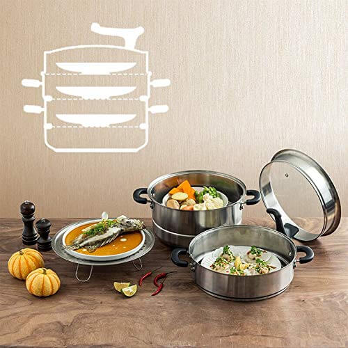 "Meyer 2 Piece Set - 3-in-1 Multi Steamer + 9"" Silicone Tongs - Pots and Pans"